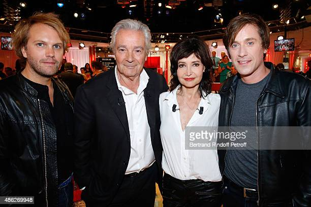 Thomas Dutronc Main guests of the show Actors Pierre Arditi with his wife Evelyne Bouix and Florian Zeller attend the 'Vivement Dimanche' French TV...