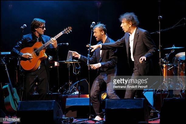 Thomas Dutronc Pierre Souchon Alain Souchon at 6th Charity Gala Of Ifrad Against Alzheimer 's Disease At Opera Comique In Paris