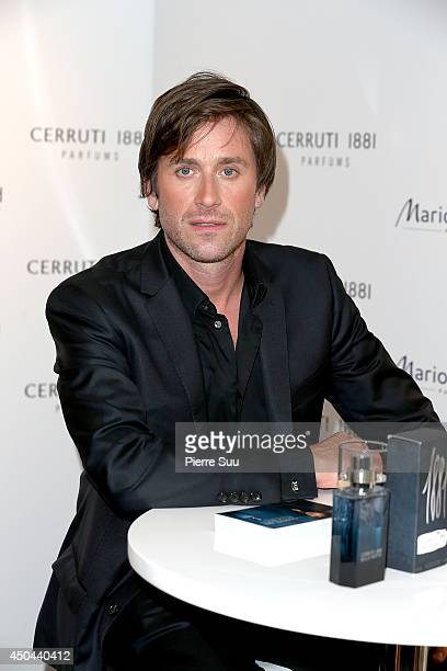 Thomas Dutronc Promotes Cerruti Perfumes At Marionnaud On The Champs Elysees on June 11 2014 in Paris France