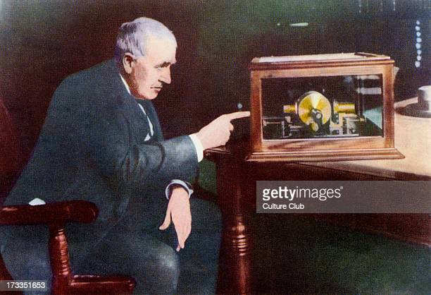 Thomas Edison Thomas Alva Edison was an American Inventor Caption reads 'Thomas Alva Edison' After an illustration by F Stocks May