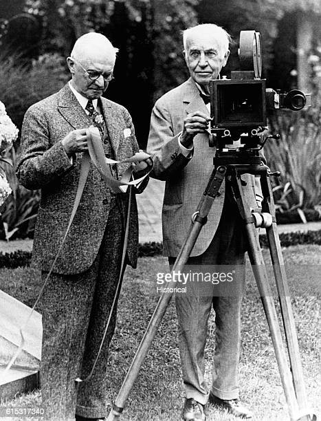 Thomas Edison with fellow inventor and Kodak manufactuer George Eastman Ca 1920s | Location outdoors
