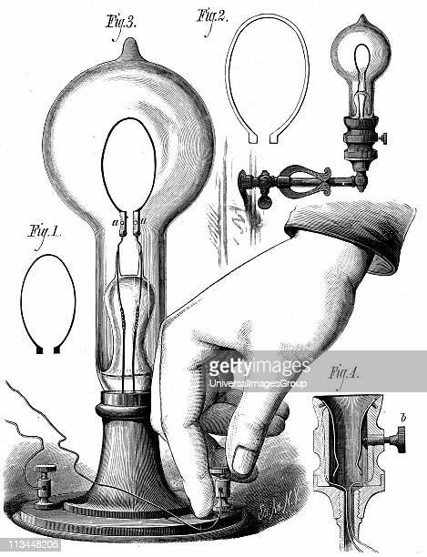 Thomas Edison's carbon filament lamp From The Scientific American New York 10 January 1880