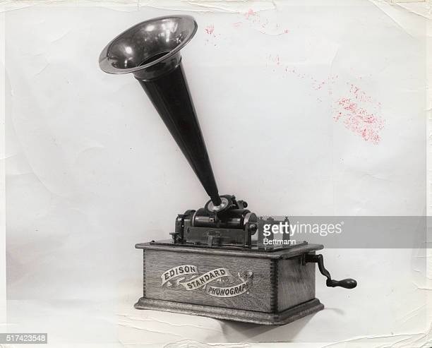 Thomas Edison's early phonograph Undated photograph