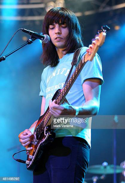Thomas Edward James Walmsley of Temples performs at Day 3 of Down The Rabbit Hole Festival at De Groene Heuvels on June 29 2014 in Beuningen...
