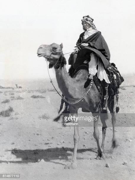 Thomas Edward Lawrence riding a camel Photograph