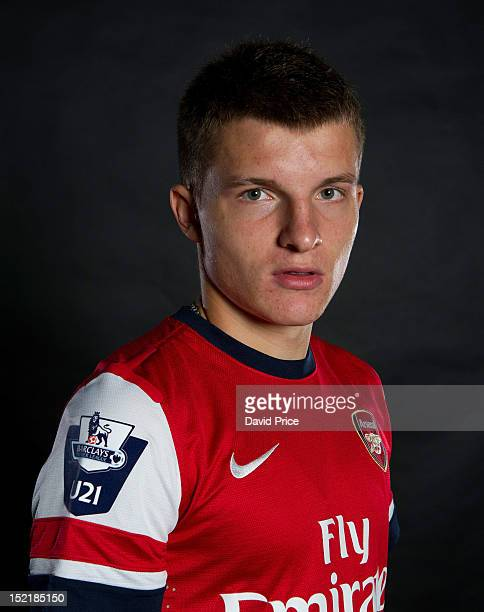 Thomas Eisfeld of Arsenal poses during a photo shoot at London Colney on September 10, 2012 in St Albans, England.