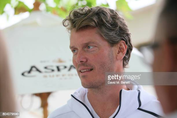 Thomas Enqvist attends the Aspall Tennis Classic at The Hurlingham Club on June 30 2017 in London England