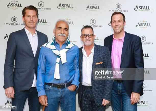 Thomas Enqvist Mansour Bahrami Guest and Greg Rusedski attend the Taylor Morris Eyewear x Aspall Tennis Classic Player's Party at Bluebird Chelsea on...