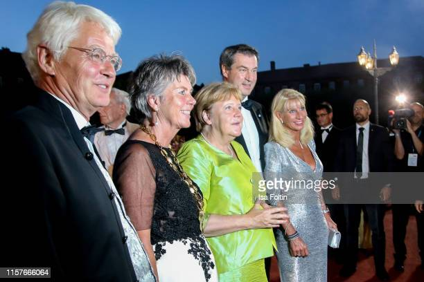 Thomas Erbe and his wife Mayor of Bayreuth Brigitte MerkErbe German Federal Chancellor Angela Merkel German politician Markus Soede and his wife...