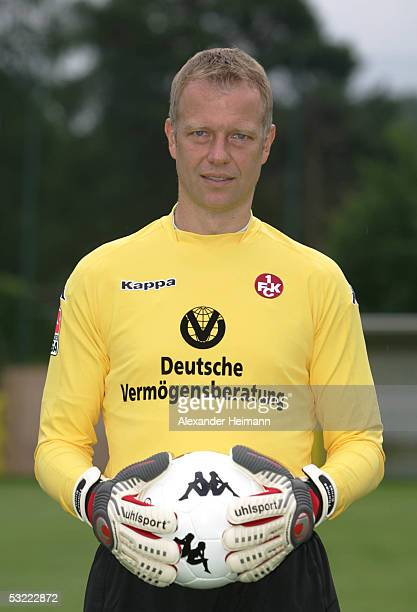 Thomas Ernst looks in the camera during the team presentation of 1FC Kaiserslautern for the Bundesliga season 2005 2006 on July 10 2005 in...
