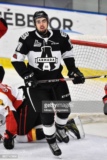 Thomas Ethier of the BlainvilleBoisbriand Armada skates against the BaieComeau Drakkar during the QMJHL game at Centre d'Excellence Sports Rousseau...