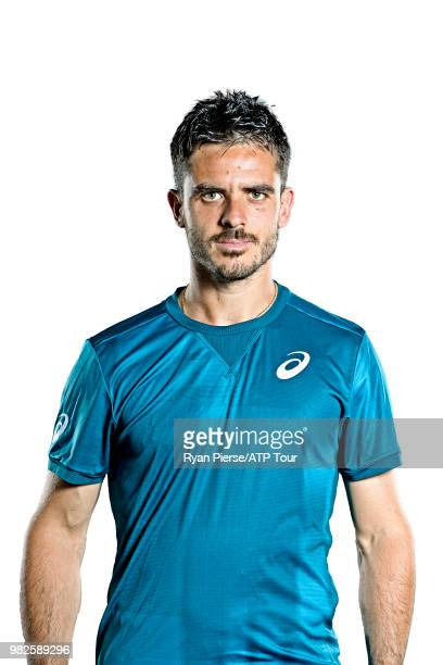 Thomas Fabbiano of Italy poses for portraits during the Australian Open at Melbourne Park on January 10 2018 in Melbourne Australia