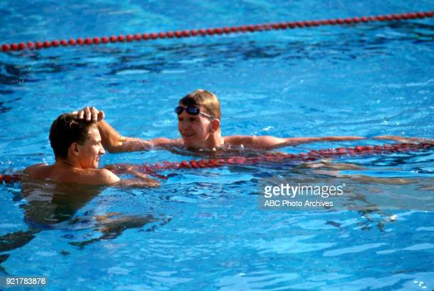 Thomas Fahrner Michael Gross Men's swimming 200 metre freestyle competition McDonald's Olympic Swim Stadium at the 1984 Summer Olympics July 29 1984
