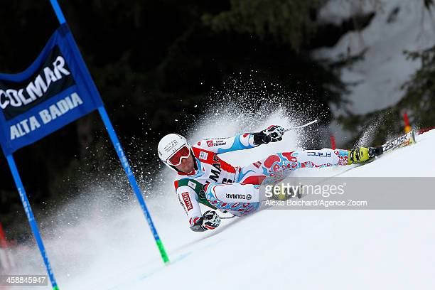 Thomas Fanara of France competes during the Audi FIS Alpine Ski World Cup Men's Giant Slalom on December 22 2013 in Alta Badia Italy
