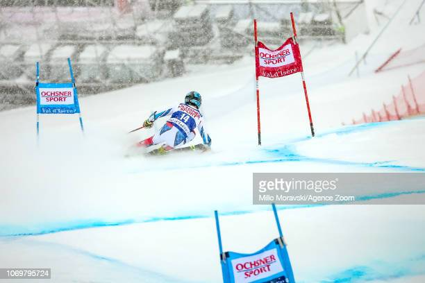 Thomas Fanara of France during the Audi FIS Alpine Ski World Cup Men's Giant Slalom on December 8, 2018 in Val d'Isère France.