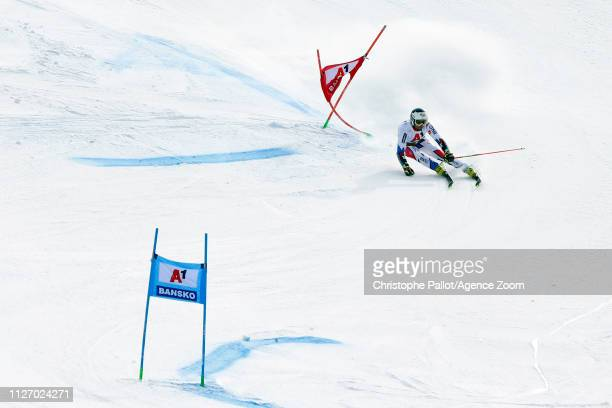 Thomas Fanara of France in action during the Audi FIS Alpine Ski World Cup Men's Giant Slalom on February 24 2019 in Bansko Bulgaria