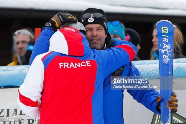 Thomas Fanara of France takes 2nd place David Chastan during the Audi FIS Alpine Ski World Cup Men's Giant Slalom on December 16 2018 in Alta Badia...