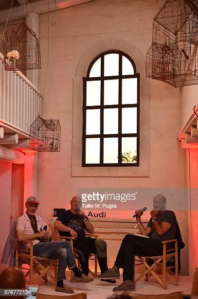 Thomas Fehlmann Alex Paterson and Luca De Gennaro attend Locus Festival 2016 on July 17 2016 in Locorotondo near Bari Italy