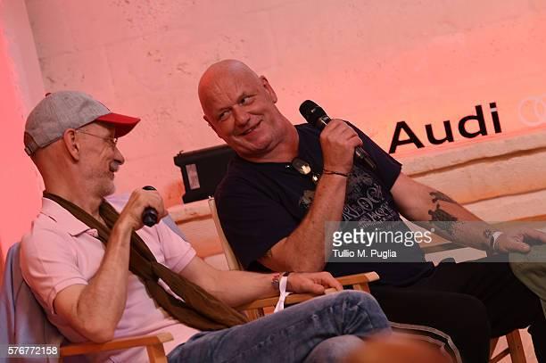 Thomas Fehlmann and Alex Paterson attend Locus Festival 2016 on July 17 2016 in Locorotondo near Bari Italy