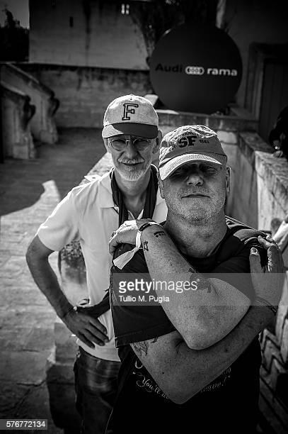 Thomas Fehlmann and Alex Paterson pose during Locus Festival 2016 on July 17 2016 in Locorotondo near Bari Italy