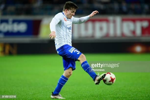 Thomas Foket midfielder of KAA Gent controls the ball during the Jupiler Pro League match between KAA Gent and Sint Truidense VV at the Ghelamco...