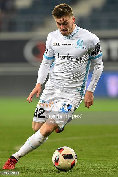 Thomas Foket midfielder of KAA Gent during the Croky Cup match between KAA Gent and KSC LOKEREN in the Ghelamco Arena stadium on NOVEMBER 30, 2016 in...