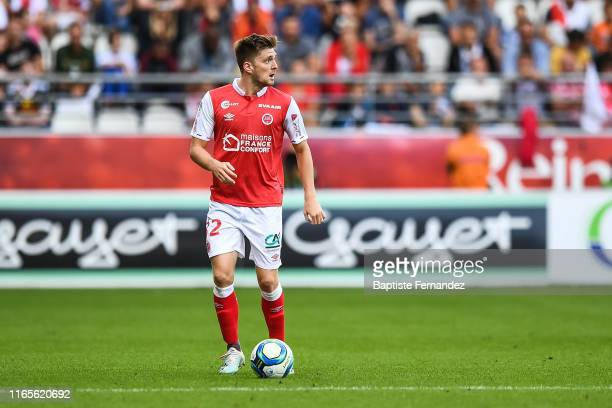 Thomas Foket of Reims during the French Ligue 1 football match between Stade de Reims and LOSC Lille on September 1, 2019 in Reims, France.