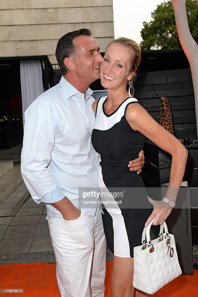 Thomas Frank and his girlfriend Renata Kochta attend the Verena Kerth birthday party at P1 on July 18, 2013 in Munich, Germany. Kerth also celebrated the release of the new Playboy issue with her on the cover.