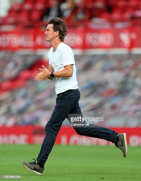 Thomas Frank manager of Brentford during the Sky Bet Championship Play Off Semifinal 2nd Leg match between Brentford and Swansea City at Griffin Park...