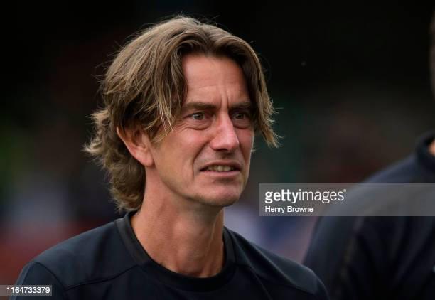 Thomas Frank of Brentford during the Pre-Season Friendly match between Brentford FC and AFC Bournemouth at Griffin Park on July 27, 2019 in...