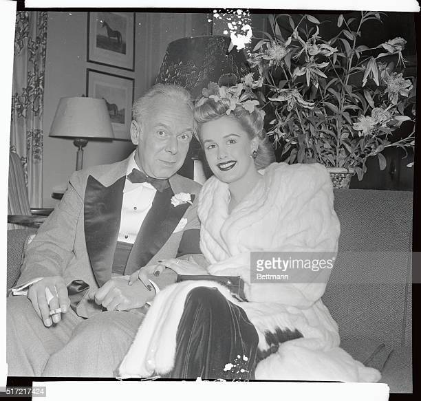 Thomas Frederick Manville the famous blonde fancier and his bride the former Bonita Francine Edwards Conover model whom he married at Ridgefield...