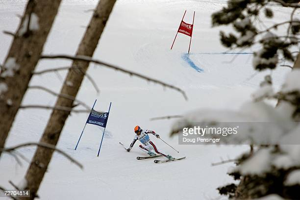 Thomas Frey of France skis the first run of the FIS Alpine World Cup Men's Giant Slalom on December 2 2006 on Birds of Prey at Beaver Creek in Avon...