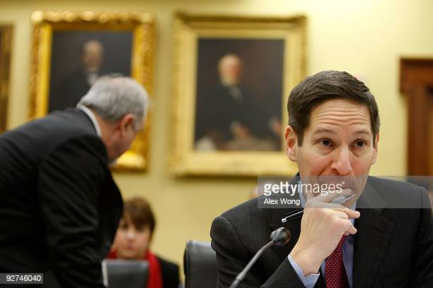 Thomas Frieden Director of the Centers for Disease Control and Prevention testifies during a hearing before the Labor HHS Education and Related...