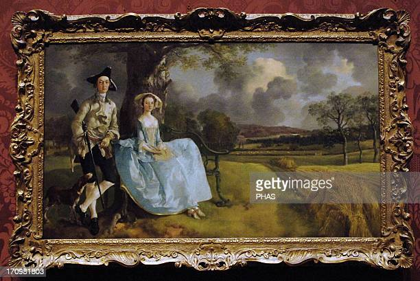 Thomas Gainsborough English portrait and landscape painter Mr and Mrs Andrews About 1750 Oil on Canvas National Gallery Londron England UK