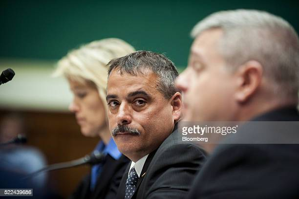 Thomas Galati chief of the intelligence bureau at the New York City Police Department center listens during a House Energy and Commerce subcommittee...