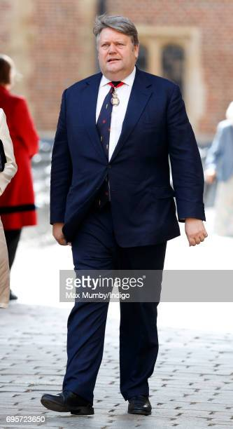 Thomas Galbraith Lord Strathclyde arrives to attend Evensong at the Chapel Royal Hampton Court Palace to celebrate the Centenary of the founding of...
