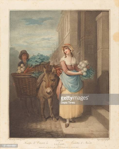 Thomas Gaugain, , British, 1748 - 1812 or before, Francis Wheatley, , British, 1747 - 1801, Turnips and Carrots Ho, The Cries of London, color...
