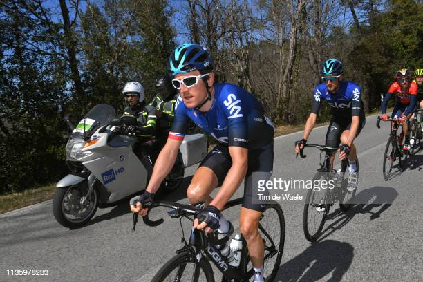 Thomas Geraint of the United Kingdom and Team Sky / Wout Poels of The Netherlands and Team Sky / during the 54th Tirreno-Adriatico 2019, Stage 3 a...