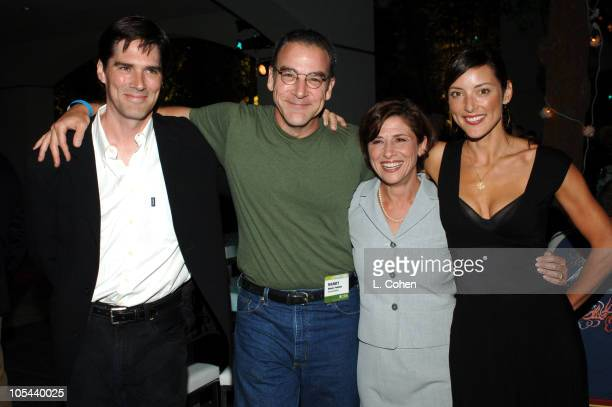 Thomas Gibson of 'Criminal Minds' Mandy Patinkin of 'Criminal Minds' Nina Tassler President of CBS Entertainment and Lola Glaudini of 'Criminal Minds'