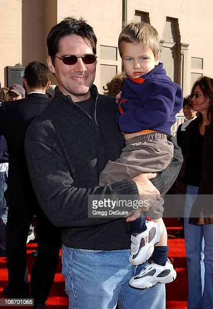 Thomas Gibson son JP during 20th Anniversary Premiere of Steven Spielberg's 'ET The ExtraTerrestrial' Red Carpet at Shrine Auditorium in Los Angeles...