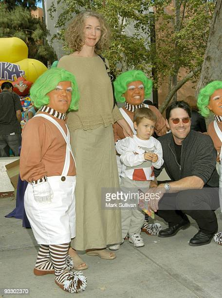 Thomas Gibson with wife Cristina son CJ and Oompa Loopas
