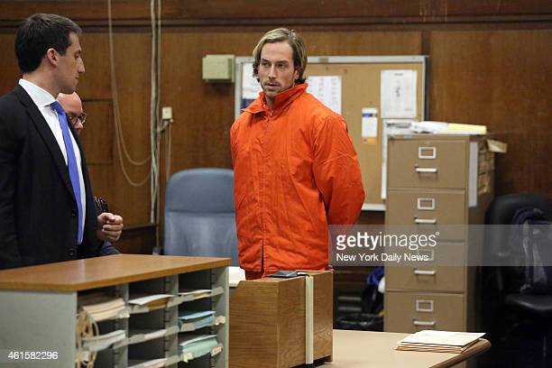 Thomas Gilbert Jr appeared in Manhattan Criminal Court on Friday January 9 2015 Gilbert who is also suspect of burning down a historic Hamptons home...