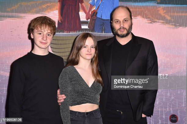 Thomas Gioria Fantine Harduin and Fabrice Du Welz attend the Adoration Premiere At UGC Cine Cite les Halles on January 14 2020 in Paris France