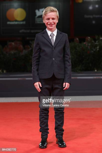 Thomas Gioria walks the red carpet ahead of the 'Jusqu'a La Garde' screening during the 74th Venice Film Festival at Sala Grande on September 8 2017...