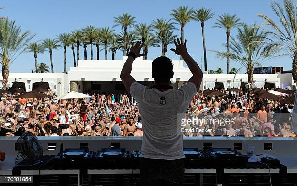 Thomas Gold performs at Daylight Beach Club at the Mandalay Bay Resort Casino on June 8 2013 in Las Vegas Nevada