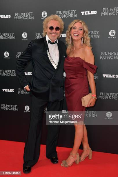 Thomas Gottschalk and his girlfriend Karina Mroß during the opening night of the Munich Film Festival 2019 at Mathaeser Filmpalast on June 27, 2019...