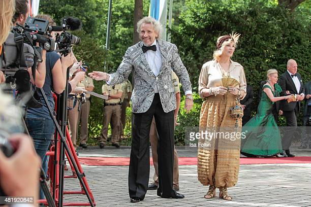 Thomas Gottschalk and his wife Thea Gottschalk attend the Bayreuth Festival 2015 Opening on July 25 2015 in Bayreuth Germany