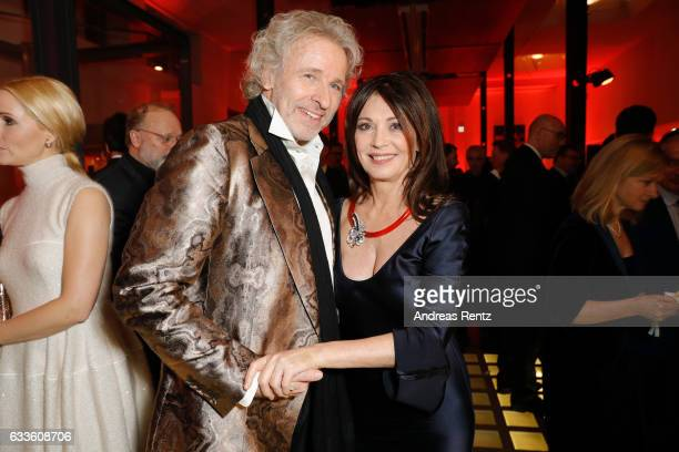 Thomas Gottschalk and Iris Berben attend the German Television Award at Rheinterrasse on February 2 2017 in Duesseldorf Germany