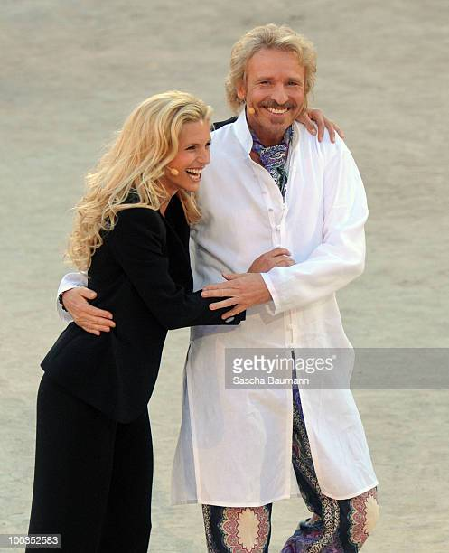 Thomas Gottschalk and Michelle Hunziker attend the Wetten Dass Summer Edition on May 23 2010 in Palma de Mallorca Spain