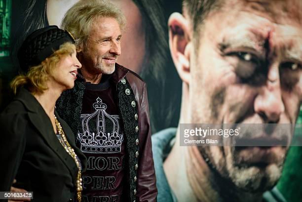 Thomas Gottschalk and Thea Gottschalk attend the 'Tatort Der Grosse Schmerz' premiere in Berlin at Kino Babylon on December 16 2015 in Berlin Germany